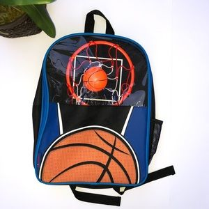 Other - Blue Backpack With Basketball Hoop And Ball!